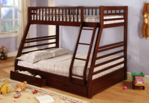 NEW ELLIE BUNK BED WITH DRAWERS (BEST  PRICE PAY ON DELIVERY)