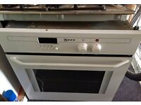 Stainless steel Gas Hob and neff oven.