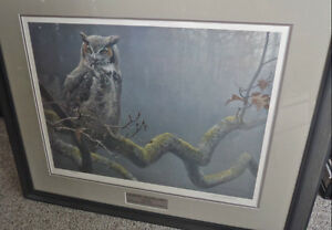 "Robert Bateman ""In the Oak - Great Horned Owl"" North Shore Greater Vancouver Area image 1"