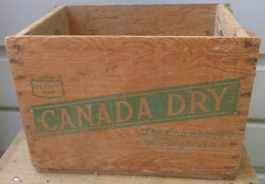 RP2180 Vintage Canada Dry Ginger Ale Soda Pop Wooden Crate Case Kawartha Lakes Peterborough Area image 3