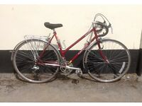 "LADIES RALEIGH RACING BIKE 21"" FRAME £75"