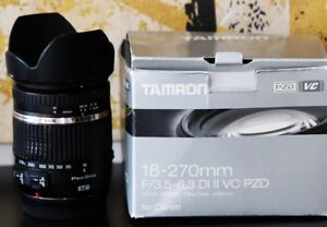 Price drop. Tamron Canon Lens AF 18-270mm f/3.5-6.3 Di II VC LD