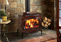 Lopi New Wood Stove Cape Cod Brown Enamel Clearout Price !!