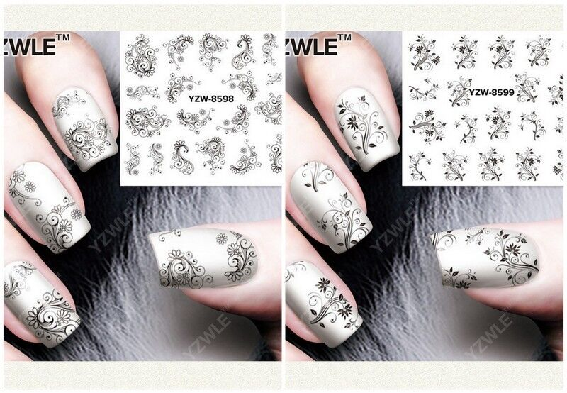 Nagelsticker Fingernägel Aufkleber Tattoo Nail Art Nageldesign Schmuck 8598-8599