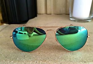 Ray Ban Green and Gold Sunglasses