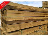 New Eco Softwood Garden Railway Sleepers | 2.4 x 200 x 100