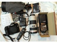 Canon EF 70-200mm f/4L USM Lens + Canon 40d + Canon TC-80n3 + Yongnuo YN560 x 2
