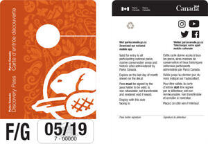 Parks Canada Annual Discovery Pass for Rent