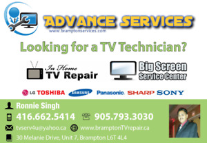 TV Repair Brampton, TV Backlight Repair , LG,Samsung,SHARP,
