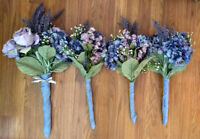 $75 for wedding bouquets in purples and blues