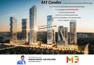 Condos Starting Mid $300,000 in the heart of Mississauga,