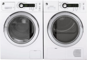 "GE WCVH4800KWW 24"" wide front load washer Dryer"