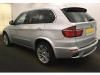 2011 SILVER BMW X5 3.0 XDRIVE30D M SPORT DIESEL AUTO 4X4 CAR FINANCE FR £62 PW