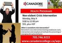 Canadore Colllege, Parry Sound - Non violent Crisis intervention