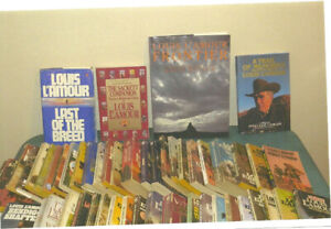 Louis L'Amour collection of books