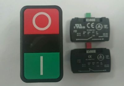 5 x ESBEE Twin Push Button ON and OFF + 10 x contact blocks n/o n/c