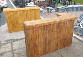 Wooden home bar set man cave gamesroom patio garden furniture bbq
