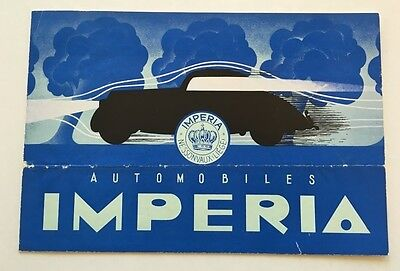 1948 Imperia Automobiles Belgium Original Car Brochure Catalog and Letter