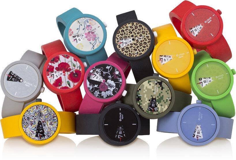 O'CLOCK digital orologio silicone O'BAG gomma orologi digitali FULLSPOT silicone