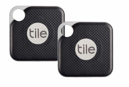 Tile Bluetooth Tracker: Tile Pro Black 2 pack with replaceable Battery