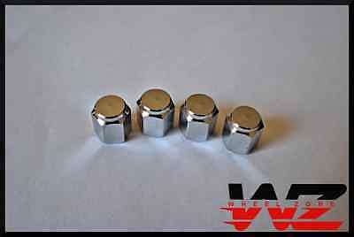 Set of Four 4 Chrome Wheel Tire Valve Stem Caps -
