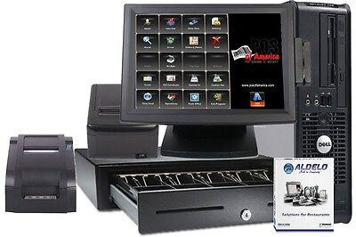Aldelo Pos Pro Restaurant Complete System Station Windows 7 Kitchen Printer New