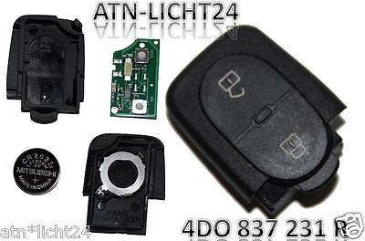 Audi Key Sender unit Housing 2 Tasten 4D0837231R 4D0 837 231 433,92Mhz