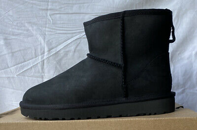 UGG W Classic Mini Leather 1016558 Black Size 7 New