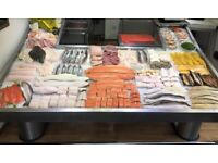 Fresh Fish Display Counter - Stainless Steel 8ft
