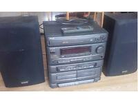 aiwa CX-Z650, speakers, remote