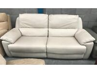 Leather recliner 3 seater sofa