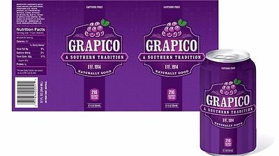 Grapico Soda 12 Pack Cans Grape Soda Pop A Southern Tradition Free Shipping