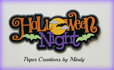 Craftecafe Mindy Halloween Title premade paper piecing for scrapbook page album