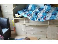 SET single bed and chest 6 drawers