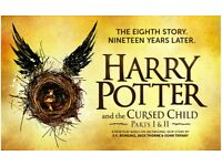 2 x Harry Potter & the Cursed Child Part 1 and Part 2 - 3rd / 4th November