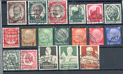 Germany - Lot of used Stamps Year 1934