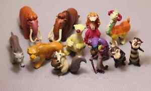 Lote-12-figuras-munecos-juguetes-ICE-AGE-la-edad-de-hielo-disney-pixar