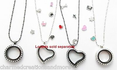 5pc Wholesale Lot Of Floating Charms For Glass Memory Locket Necklace (Floating Lockets Wholesale)