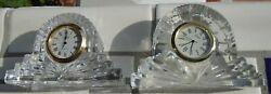 Clocks Crystal Glass Mantel Quartz Illusions Crystal Legends Movement set of 2