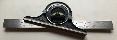 Starrett 12 Inch Regular Steel Blade With No. 490 Protractor Head As Pictured