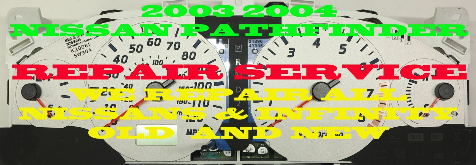02 03 04 REPAIR SERVICE FOR NISSAN PATHFINDER FUEL GAUGE ONLY 2002 2003 2004