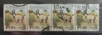 Botswana 2002 Mammals 1p – Kudu horiz strip USED