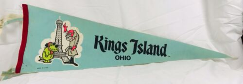 1970s Kings Island Pennant with Muttley and Dick Dastardly Hanna Barbera Cartoon