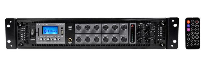 Rockville RCS180-6 180 Watt 6 Zone 70v Commercial/Restaurant Amplifier/Bluetooth