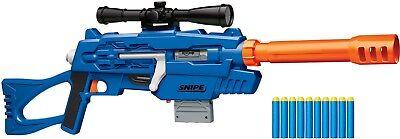 NEW Air Warriors Snipe Sniper Rifle Scope Blaster Foam Dart Nerf Buzz Bee Toys