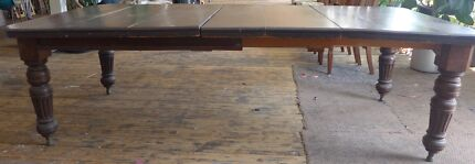 Large Victorian Mahogany Extension Table