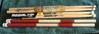 Regal JOJO Wood Tip Drum Sticks//Model Q9000//6 Pair//Great Deal//Brand New