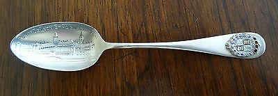 Wallace St. Augustine Florida Sterling & Enamel Souvenir Spoon Ponce de Leon