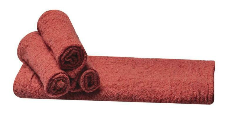 """Industrial 10 pack Red Shop Towels 12"""" x 14"""" Cleaning Rags Home Car Auto Garage"""