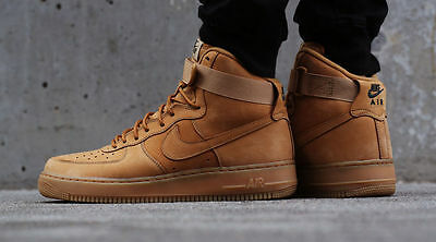 Nike Air Force 1 AF1 07 HIGH LV8 Wheat Tan Size 12.5. 882096-200. mid lunar boot